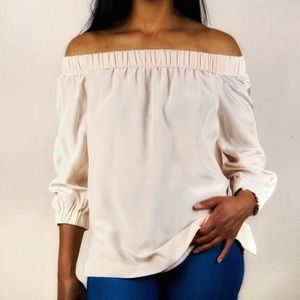 🔥Babaton Off the Shoulder Silk Blouse🔥
